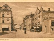 Ansicht der Innstraße zwischen Rathausvorplatz und Stachus mit dem Geschäft von Jakob Wagner, um 1925