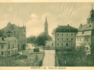 An der Kreuzung von Bach-, Inn- und Dultstraße, um 1916