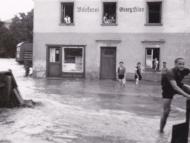 Die Bäckerei von Georg Kloo im Hochwasser 1954