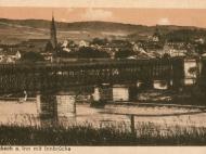 Ansicht der Eisenbahnbrücke zwischen Braunau und Simbach