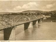 Blick auf die Bögen der Innbrücke in Richtung Simbach