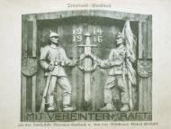 Das Treubund-Denkmal auf der Innbrücke, 1916