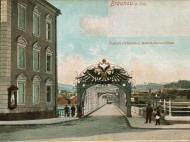 Der österreichische Brückenabschluss der Innbrücke um 1900