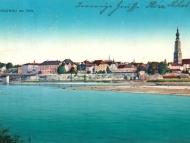Ansicht von Braunau, vom Simbacher Innufer aus gesehen