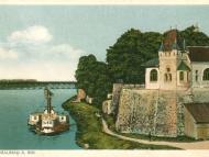 Die Braunauer Innlände am Stechl-Keller mit Dampfschiff