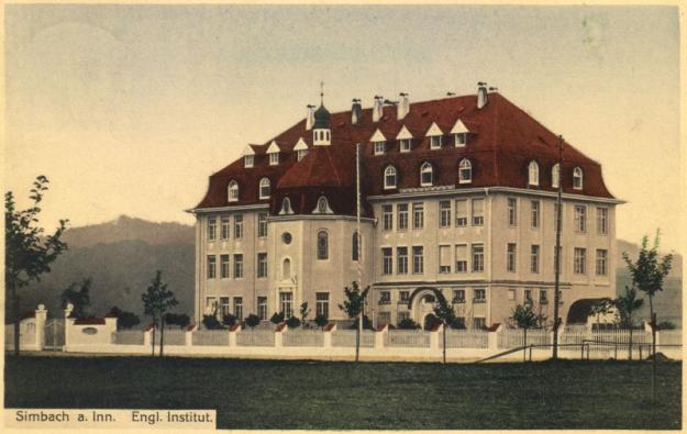 Ansicht der Höheren Töchterschule Institut Marienhöhe kurz nach ihrer Erbauung 1909