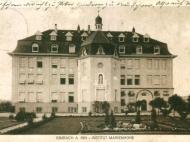 Das Institut Marienhöhe mit Vorgarten, um 1915
