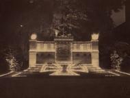 Das Kriegerdenkmal für die Gefallenen des Ersten Weltkriegs bei seiner Einweihung im September 1923 (Familienarchiv Lehner)