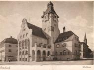 Ansichtskarte mit Gesamtansicht des Rathauses von der Innstraße aus gesehen Ansichtskarte mit Gesamtansicht des Rathauses von der Innstraße aus gesehen