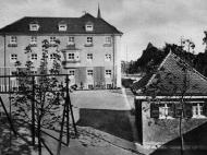 Ansicht des südlichen Flügels des Hauses Mariental mit Garten und Pavillon (Archiv Geiring)