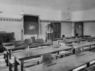 Studiersaal in der Knaben-Oberschule Haus Mariental (Archiv Geiring)
