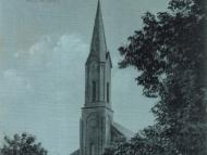 Ansichtskarte vom Kirchenplatz mit Pfarrkirche St. Marien