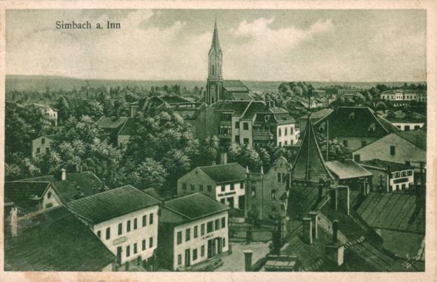 Das Ortszentrum aus Richtung Osten, um 1925