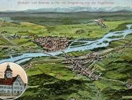 Stadtplan-Ansicht von Simbach, Braunau und Umgebung, um 1910