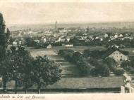 Gesamtansicht von Simbach mit Braunau im Hintergrund
