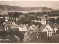 Ansicht vom Kirchturm aus Richtung Erlach und Schellenberg, um 1925