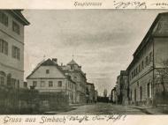 Gemeindehaus und Rentamt in der Hauptstraße, um 1900