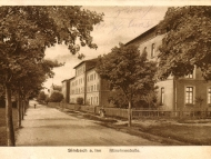 Die Schachthäuser in der Münchner Straße, um 1915