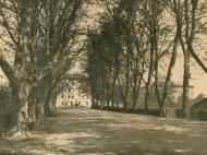 Ansicht der Alleestraße am Bahnhof in Richtung Schachthäuser, um 1935