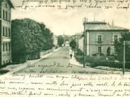 Die Innstraße Richtung Innbrücke um das Jahr 1900