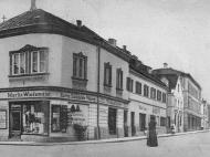Panorama-Blick vom Stachus in die Inn- und Münchnerstraße, um 1900