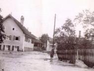 Simbach-Hochwasser 1938 im Kreuzberger Weg (Archiv Huber)