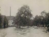 Simbach-Hochwasser 1938 in der Bachstraße (Archiv Huber)