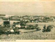 Ansicht von Erlach mit Kirche, mit Blickrichtung Simbach